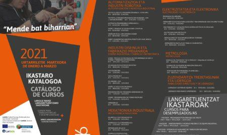 Disponible el nuevo catálogo de cursos para trabajadores/as y desempleados/as de Armeria Eskola