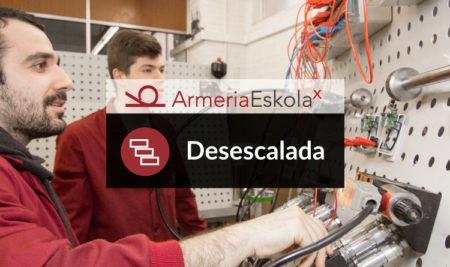 Armeria Eskola, Desescalada